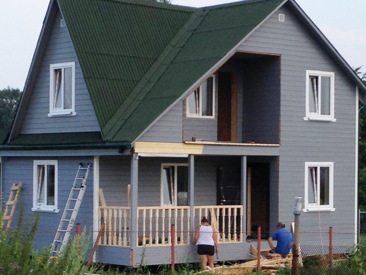 Каркасный дом 6х8 с кукушкой