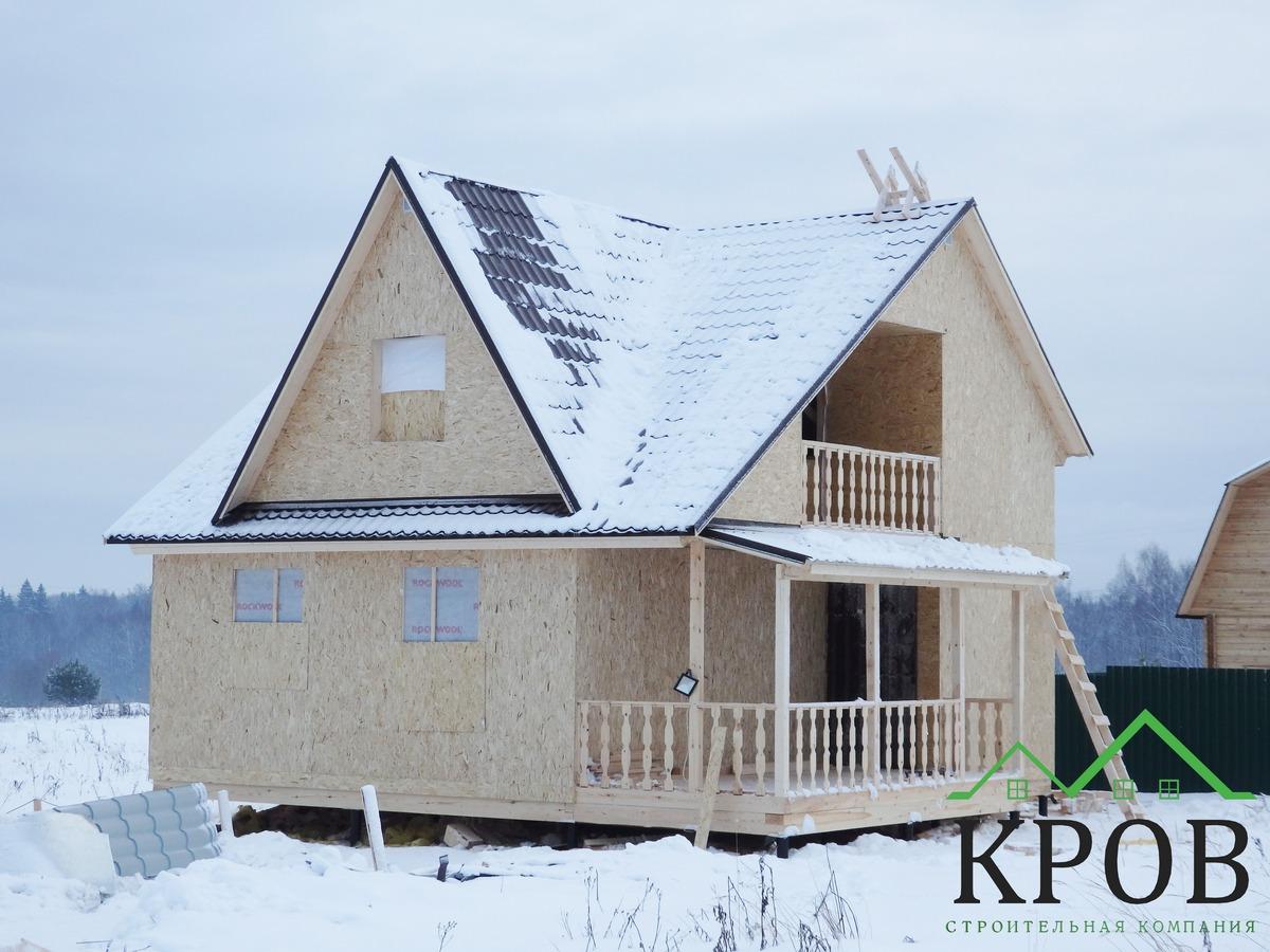 Каркасный дом 8х8,5 метров