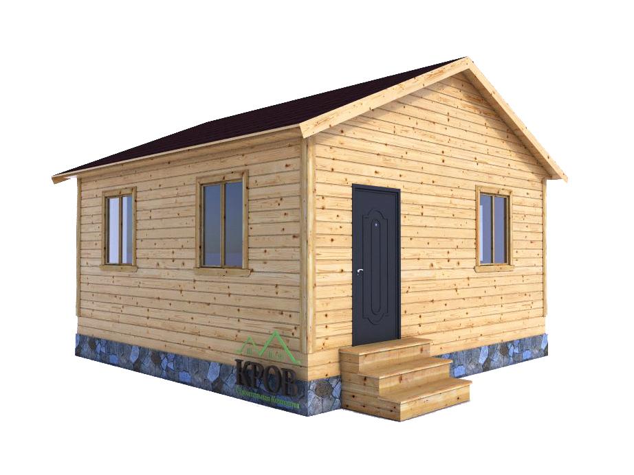 Одноэтажная дача из бруса 6 на 6