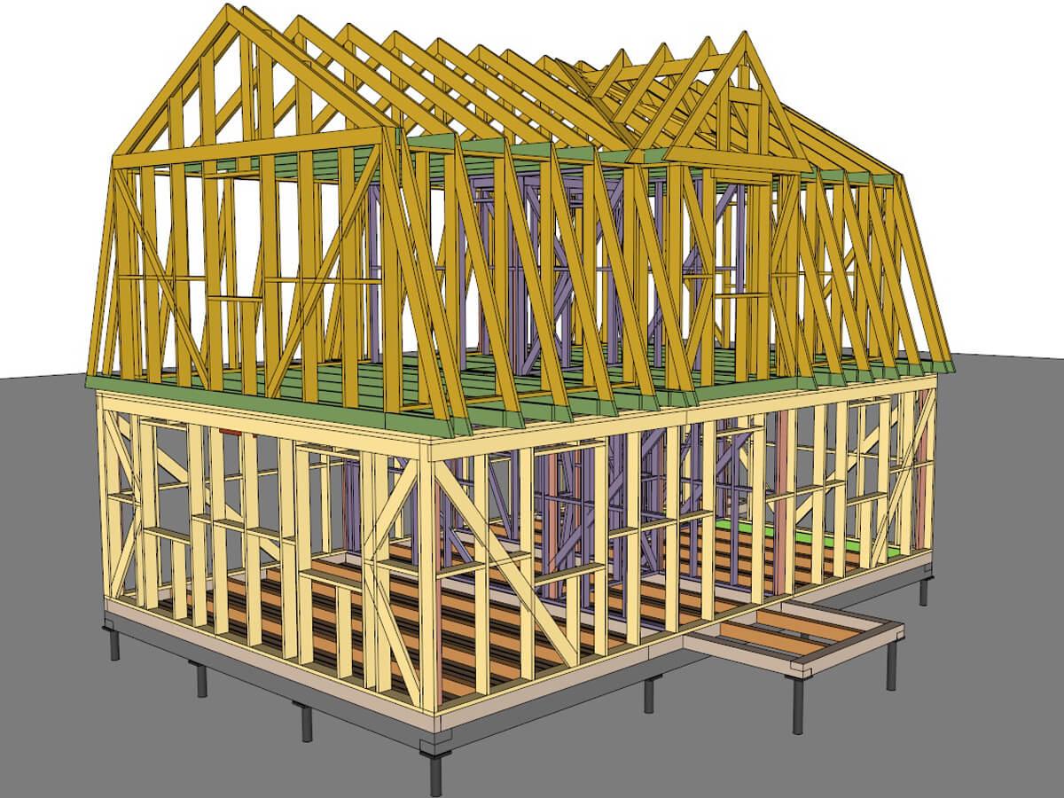 Конструктивный проект каркасного дома